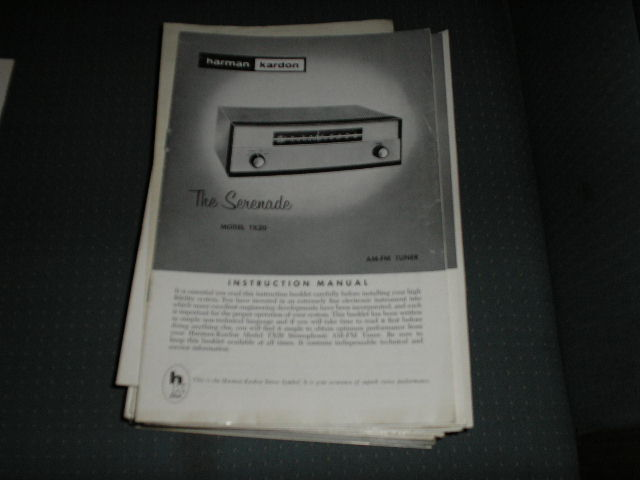 TX20 AM FM Tuner Manual with schematic