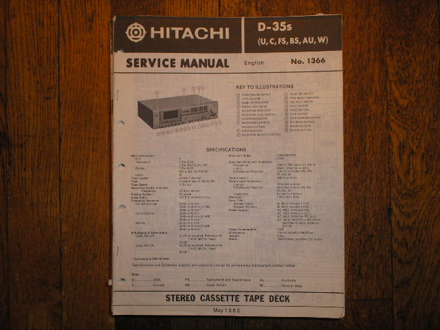 D-55S Cassette Tape Deck Service Manual