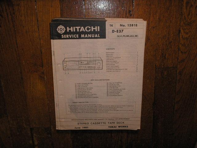 D-E37 U C W FS BS AU Stereo Cassette Tape Deck Service Manual