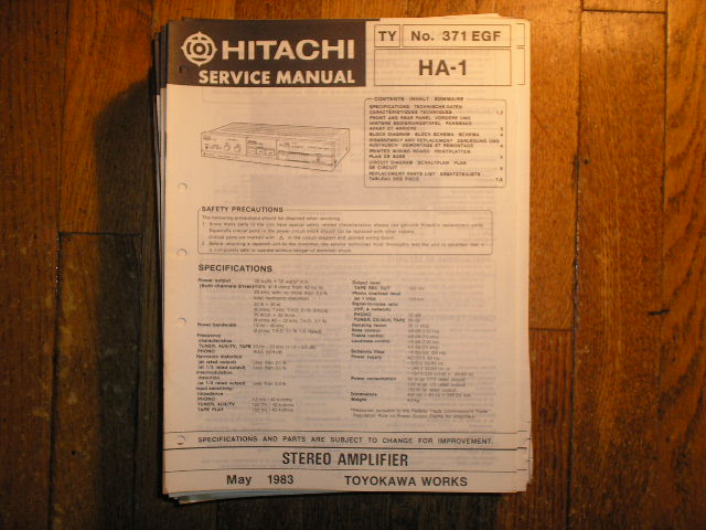 HA-1 Stereo Amplifier Service Manual