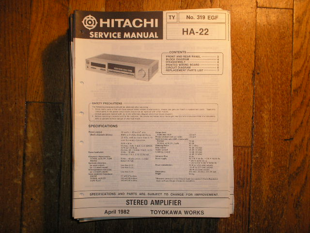 HA-22 Stereo Amplifier Service Manual