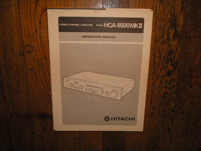 HCA-8500 MK II 2 Stereo Control Amplifier Instruction Manual