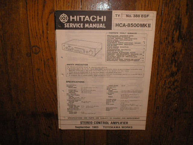 HCA-8500 MK II 2 Stereo Control Amplifier Service Manual
