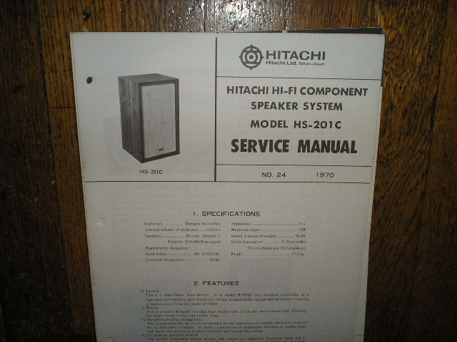 HS-201C Speaker System Service Manual