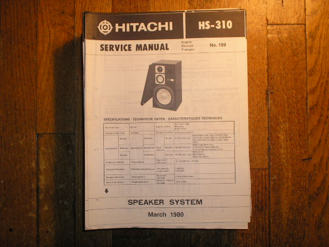 HS-310 Speaker System Service Manual
