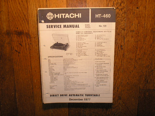 HT-460 Direct Drive Turntable Service Manual....