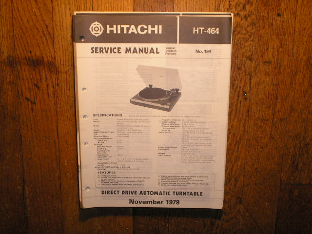 HT-464 Direct Drive Turntable Service Manual....