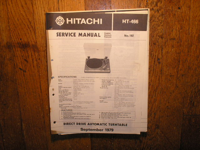 HT-466 Direct Drive Turntable Service Manual....