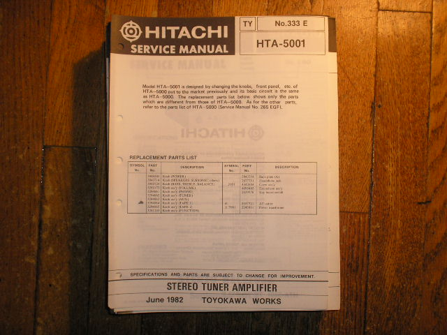 HTA-5001 Stereo Tuner Amplifier Service Manual
