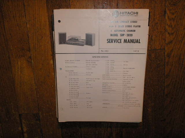 SDP-2820 Stereo System Service Manual