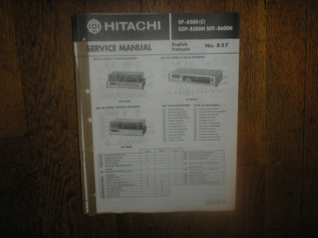 SDP-8500H  SP-8500 C  SDT-8600H  Stereo System Service Manual