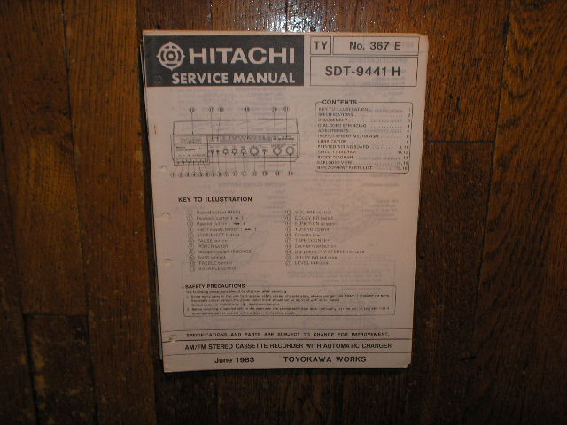 SDT-9441H  Stereo System Service Manual