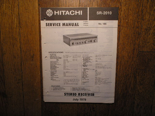 SR-2010 Receiver Service Manual