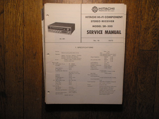 SR-300 Stereo Receiver Service Manual