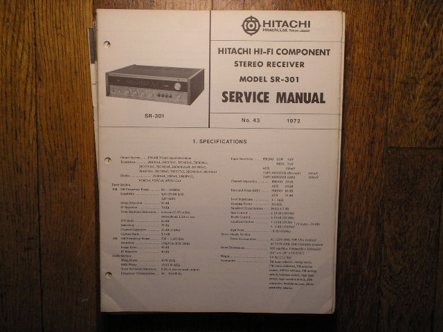 SR-301 Receiver Service Manual
