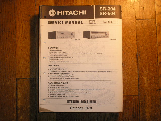 SR-304 SR-504 Receiver Service Manual