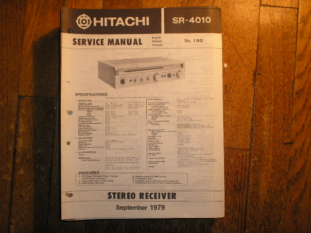 SR-4010 Receiver Service Manual
