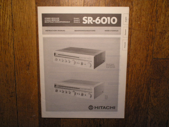 SR-6010 Receiver Owners Manual