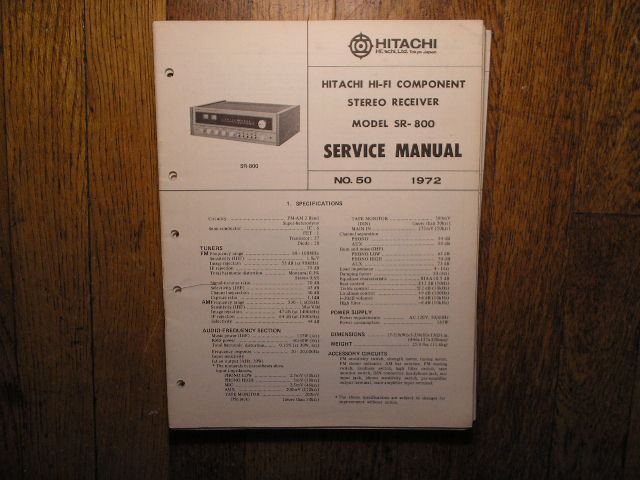 SR-800 Receiver Service Manual