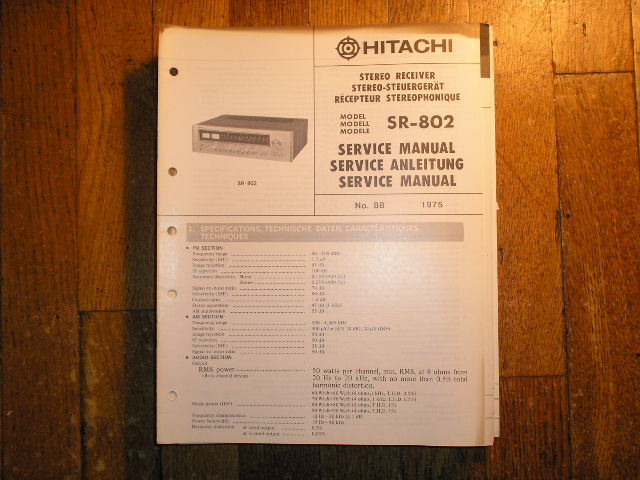 SR-802 Receiver Service Manual