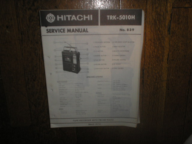 TRK-5110H CASSETTE RADIO Service Manual