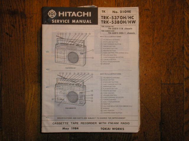 TRK-5370H TRK-5370HC  TRK-5380H TRK-5380HW CASSETTE RADIO Service Manual