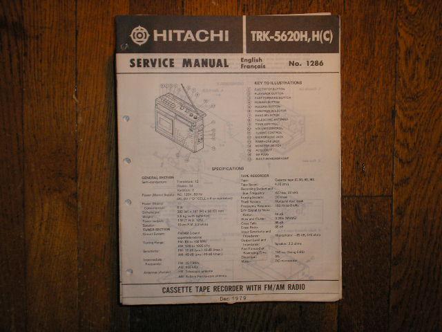 TRK-5620H TRK-5620HC CASSETTE RADIO Service Manual