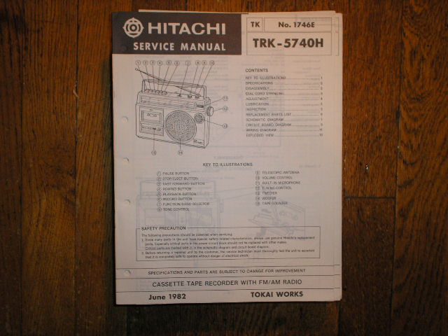 TRK-5740H CASSETTE RADIO Service Manual