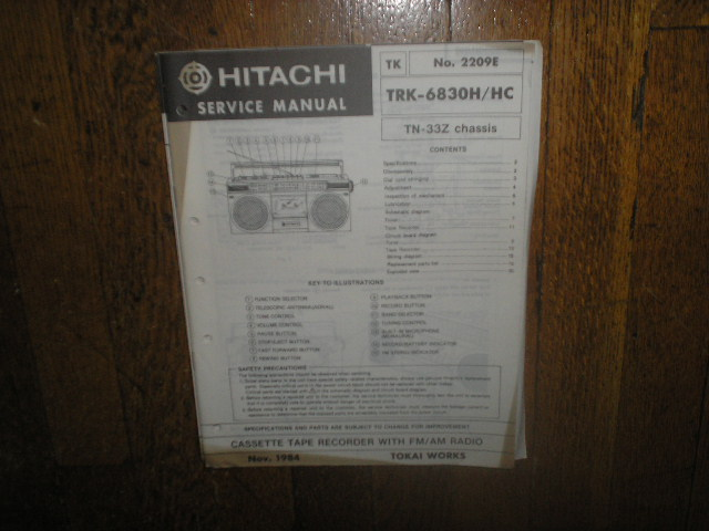 TRK-6830H TRK-6830HC  CASSETTE RADIO Service Manual