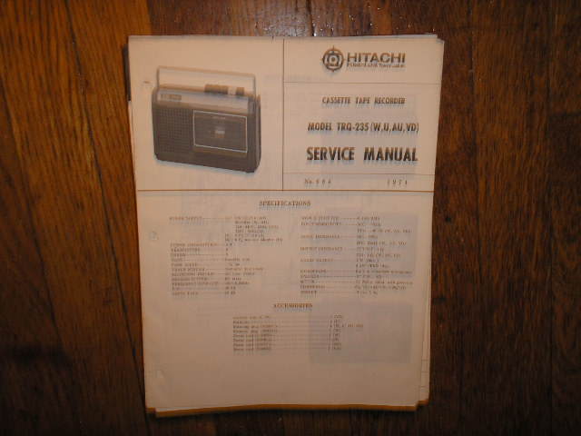 TRQ-235 Cassette Tape Recorder Service Manual