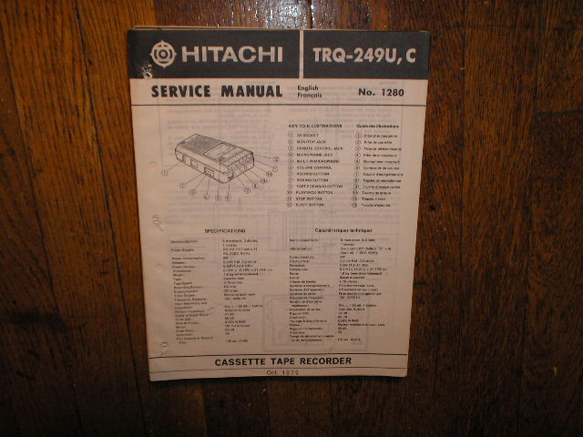 TRQ-249U C  Cassette Tape Recorder Service Manual