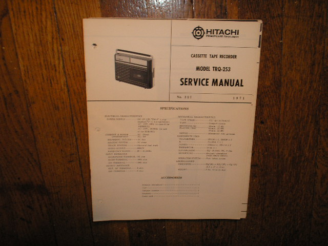 TRQ-253 Cassette Tape Recorder Service Manual