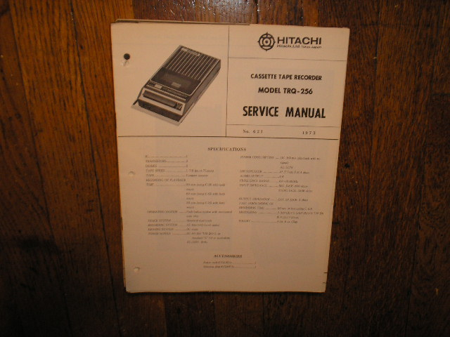 TRQ-256 Cassette Tape Recorder Service Manual