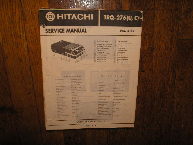 TRQ-276U C  Cassette Tape Recorder Service Manual