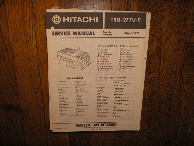 TRQ-277U C Cassette Tape Recorder Service Manual