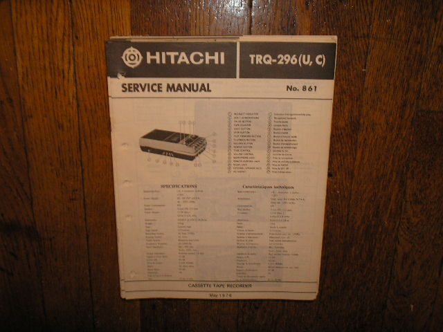 TRQ-296R Cassette Tape Recorder Service Manual