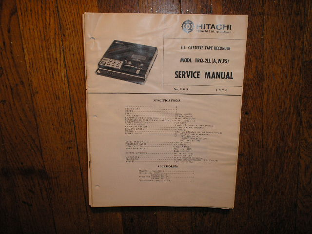 TRQ-2LL A W FS Cassette Tape Recorder Service Manual