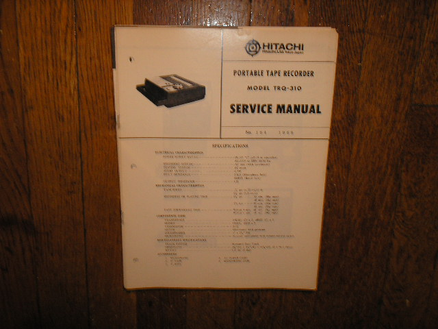 TRQ-310 Cassette Tape Recorder Service Manual