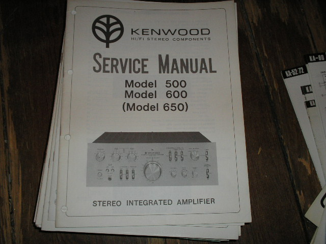 Model # 500 600 and 650 Amplifier Service Manual