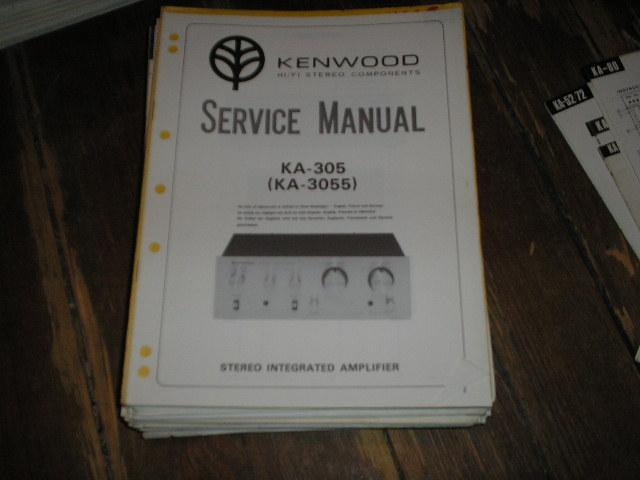 KA-305 KA-3055 Amplifier Service Manual
