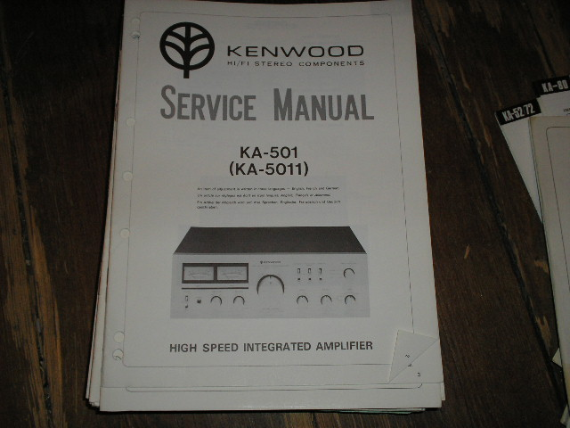 KA-501 KA-5011 Amplifier Service Manual