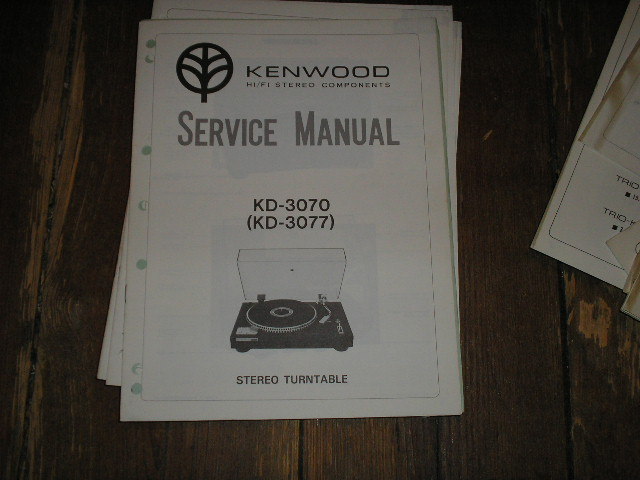KD-3070 KD-3077 Turntable Service Manual