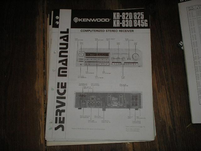 KR-830 KR-0820 KR-825  KR-845G Receiver Service Manual