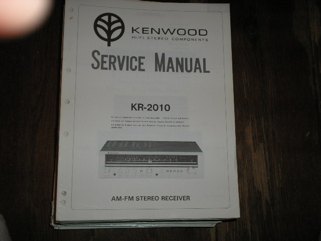 KR-2010 Receiver Service Manual