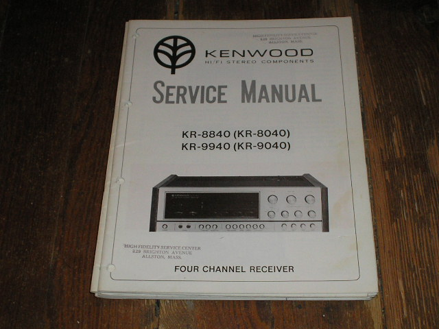 KR-8040 KR-8840 KR-9040 KR-9940 Receiver Service Manual