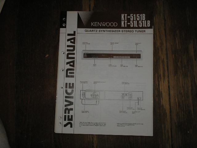 KT-51 KT-51B KT-51L KT-51LB Tuner Service Manual B51-1451...88