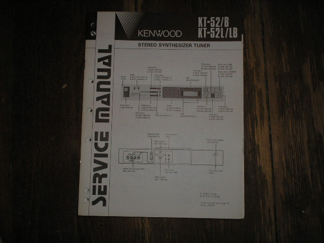 KT-52 KT-52L KT-52LB Tuner Service Manual B51-1566...1320