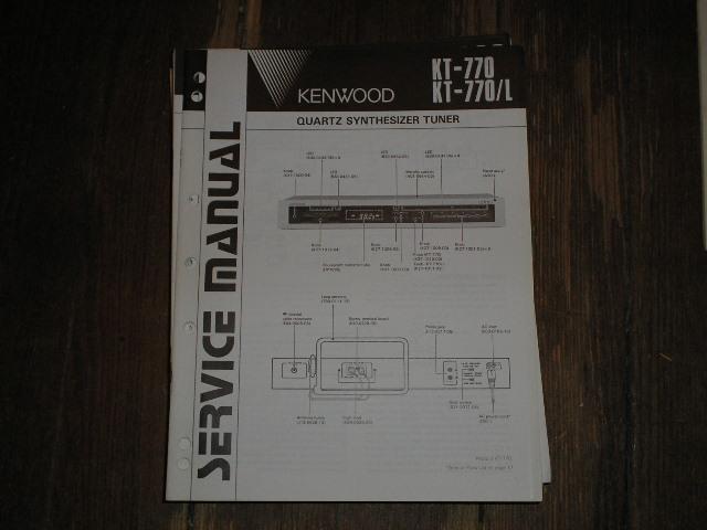 KT-770 KT-770L Tuner Service Manual B51-1530...88