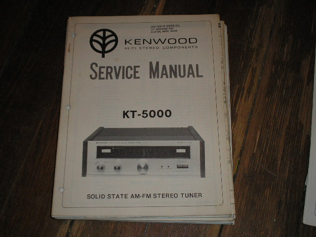 KT-5000 Tuner Service Manual