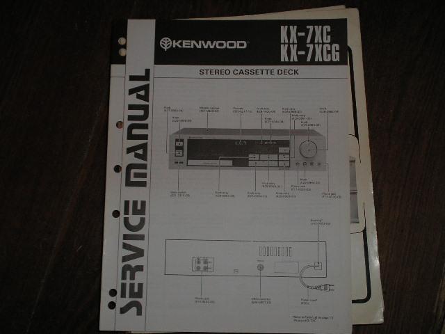 KX-7XC KX-7CG Cassette Deck Service Manual B51-1324...880